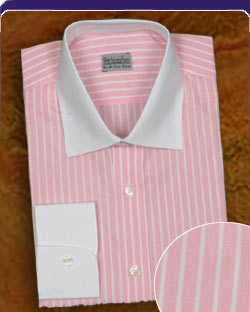 Pastel Pink striped shirt
